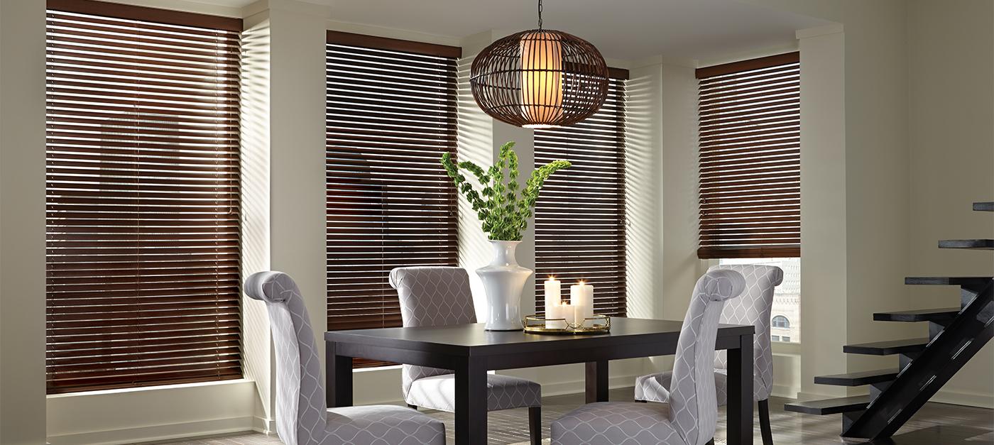 Find Elegant Hunter Douglas Window Wood Blinds In New York Ny