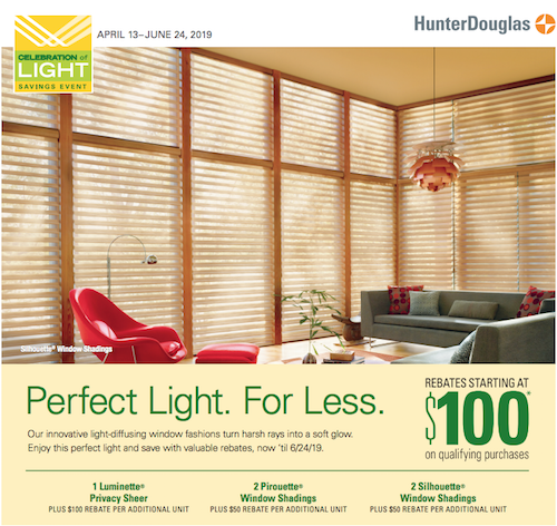 Hunter Douglas energy efficient blinds sale