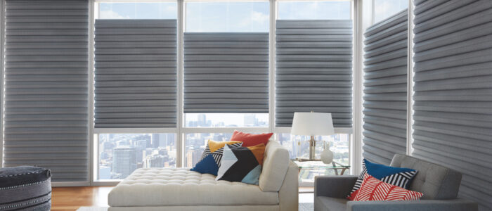 grey contemporary window shades