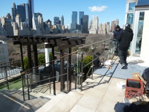 4 East 66 St. Penthouse Glass Railings 015