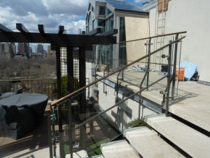 4 East 66 St. Penthouse Glass Railings 019