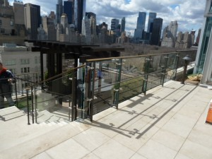 4 East 66 St. Penthouse Glass Railings 023