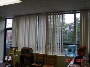Before Phifer SheerWeave Solar Shades