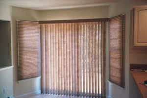 Graber Crystal Pleat Cellular Shades with Vertical Blinds